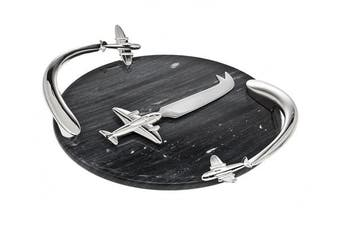 GodingerAirplane Marble Board W/Knife
