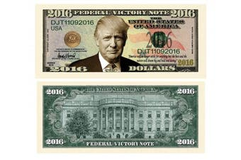 American Art Classics Pack of 10 - Donald Trump 2016 Federal Victory Presidential Limited Edition Dollar Bill
