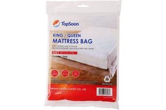 (King/Queen) - TopSoon Plastic Mattress Bag for King / Queen, Size 200cm x 240cm
