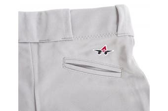 (X-Small, Grey) - Alleson Ahtletic Women's Fastpitch/Softball Belt Loop Pant