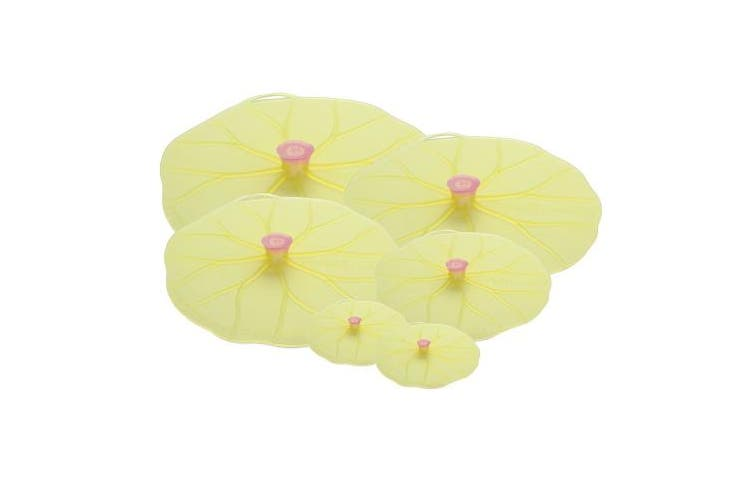 Charles Viancin Lilypad Lid Set of 6 - Large, Medium, Med/Small, Small, Drink Cover Set