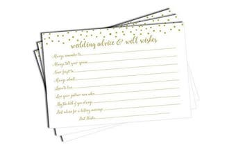 Wedding Advice and Well Wishes - Gold Confetti (50-cards)