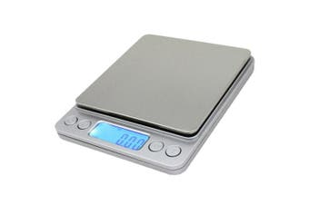 (Silver) - Spirit 500g/0.01g Digital Pocket Scale, Stainless kitchen Food Scale Jewellery Scale, 0ml Resolution