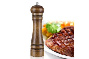 ZOYA Wood Pepper Mill, 20cm High Salt and Pepper Grinder,Salt and Pepper Shakers