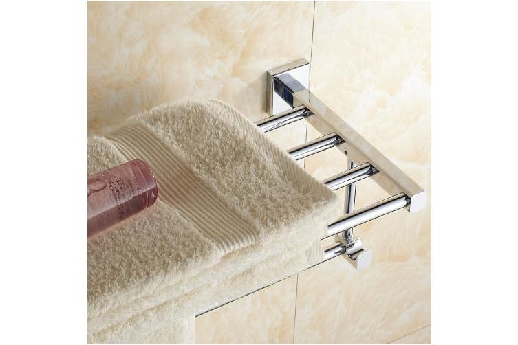 (60cm) - Aothpher Wall Mounted Stainless Steel Towel Rack Double Layer Towel Shelf ,Mirror Polishing (60cm)