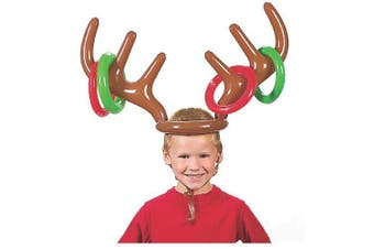 Fancyus Christmas Inflatable Antler Hat Ring Toss Party Game