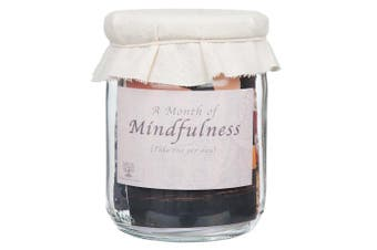 (Jar) - One Month Mindfulness Challenge - Rustic jar full of daily mindful tasks and challenges.
