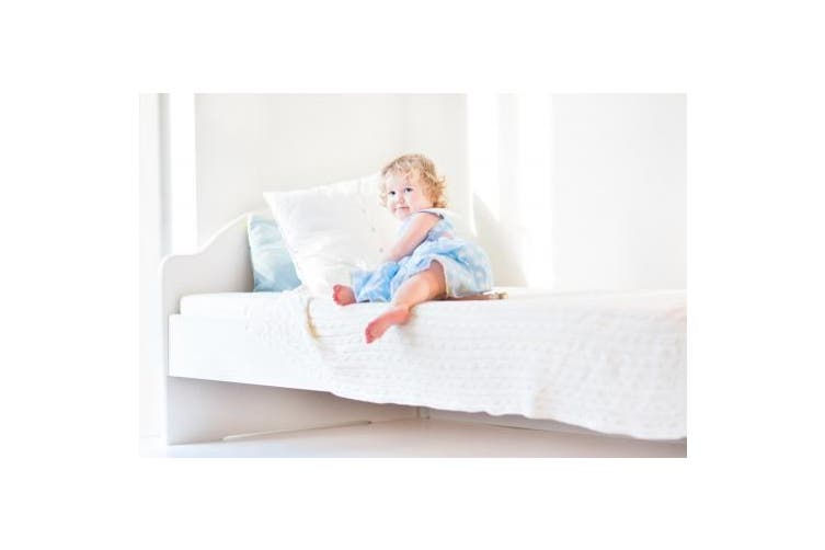 """Wonder Baby Saddle Style Children's Soaker Waterproof Mattress Pad & Sheet Protector – Soft, Comfortable, Lightweight Bedding - Absorbs 6 Cups – 34"""" x 36"""" for Twin Beds"""