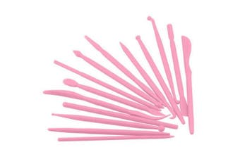 (Pink) - BronaGrand Set of 14 Mini Plastic Crafts Clay Modelling Tool for Shaping and Sculpting (Pink)