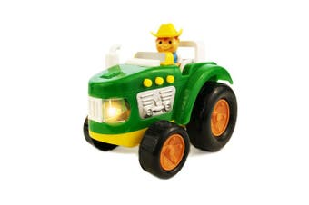 (Farmer John) - BOLEY Green Farm Tractor Toy - Educational Light and Sound Toy for Toddlers - Toddler Farm Vehicle