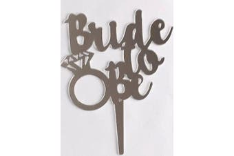 Silver Bride To Be Wedding Shower Engagement Ring Cake Topper Decoration Sign