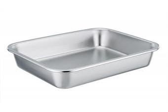 TeamFar Stainless Steel Roasting Pan Rectangular Roaster, Compact Size 8''x10''x1.7'', Healthy & Non toxic, Easy Clean, Dishwasher Safe