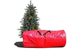 (Red) - Heavy Duty Large Artificial Christmas Tree carry Storage Bag Holiday Clean Up to 2.7m (Red)