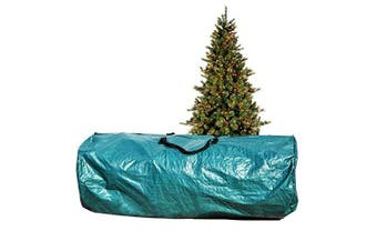 (Green) - Heavy Duty Large Artificial Christmas Tree carry Storage Bag Holiday Clean Up to 2.7m (Green)