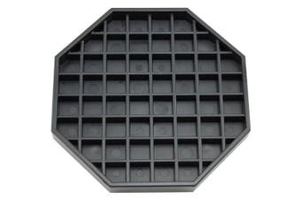 Great credentials GC-DT-6 Coffee Countertop Octagon Drip Tray - 15cm - Black