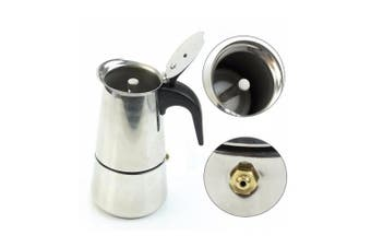 MAYMII 2 Cup/100ml Stainless Steel Moka Espresso Latte Percolator Stove Top Coffee Maker Pot