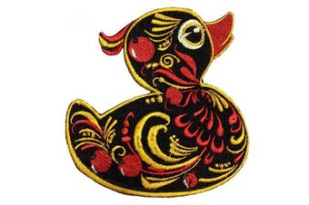 (Large) - Hohloma duck patch embroidery applique emnroidered pattern iron on sew on (Large)