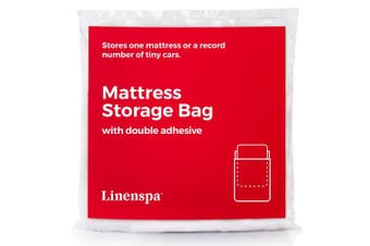 (Queen) - LINENSPA Mattress Storage Bag with Double Adhesive Closure - Fits Queen, Full and Full XL