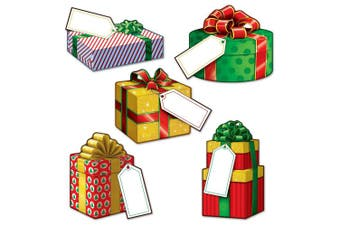 Beistle 22273 Mini Christmas Gift Cutouts, 10cm - 13cm , 10 Cutouts In Package
