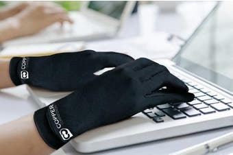 (Small) - Copper Compression Full Finger Arthritis Gloves. Highest Copper Content GUARANTEED! Best Copper Infused Fit Gloves For Carpal Tunnel, Computer Typing, Support For Hands. 1 PAIR Of Gloves (Small)