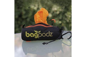 (10 bags, Saffron Yellow) - BagPodz Reusable Bag and Storage System - Saffron Yellow (Contains 10 Bags)
