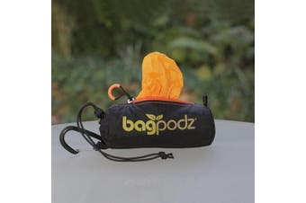 (5 bags, Saffron Yellow) - BagPodz Reusable Bag and Storage System - Saffron Yellow (Contains 5 Bags)