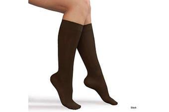 (X-Large, Black) - Advanced Orthopaedics Ladies Compression Knee High Socks, Black, X-Large
