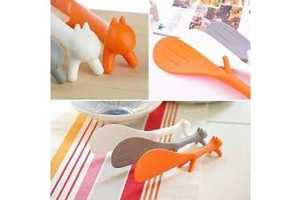 Charmed Plastic Squirrel Shaped Non Stick Rice Paddle Spoon (multi colour)