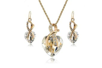 (White) - Jewellery Necklace Earrings Set - YiaMia®