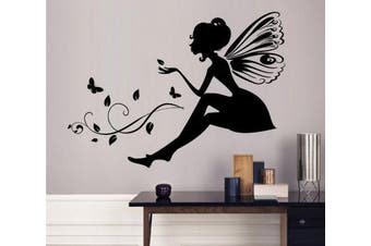 (Fairy) - ChezMax DIY Wall Sticker Decal Mural Removable Self Adhesive Paper Art Deco Fairy 48cm x 34cm