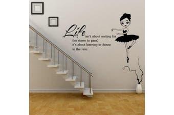 (Dancing Girl) - ChezMax DIY Wall Sticker Decal Mural Removable Self Adhesive Paper Art Deco Dancing Girl 60cm x 44cm