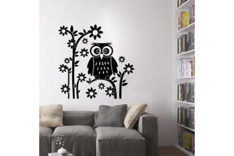 (Owl) - ChezMax DIY Wall Sticker Decal Mural Removable Self Adhesive Paper Art Deco Owl 50cm x 60cm