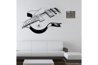 (Guitar) - ChezMax DIY Removable Wall Decor Waterproof Guitar Pattern Wall Sticker 60cm x 100cm