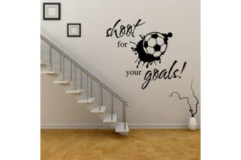(Football) - ChezMax DIY Removable Wall Decor Waterproof Shoot for Your Goals Wall Sticker 60cm x 40cm