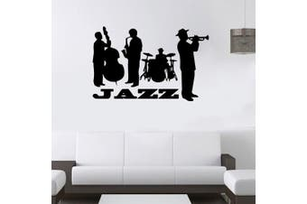 (Jazz Band) - ChezMax DIY Removable Wall Decor Waterproof Jazz Band Pattern Wall Sticker 60cm x 50cm