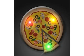 Pizza Flashing Body Light Lapel Pin Party Favours by Blinkee