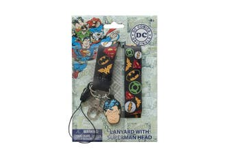 DC Comic Heroes Lanyard with PVC Dangle