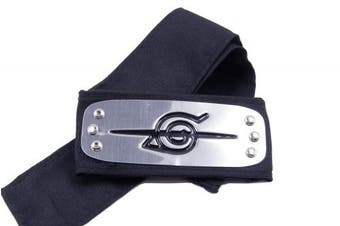 Allnicecos Naruto Anti Leaf Village Headband Akatsuki Uchiha Itachi silver black, 19cm