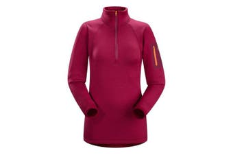 (Large, Roseberry) - Arc'teryx Women's Rho AR Zip Neck