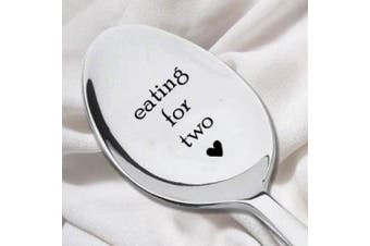 Eating For Two Spoon-Unique Pregnancy Reveal Idea- Pregnancy Gift- Baby Shower Gift-New Arrival Present