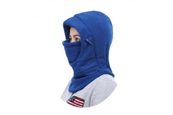 (Blue) - Children's Winter Windproof Cap Thick Warm Face Cover Adjustable Ski Hat