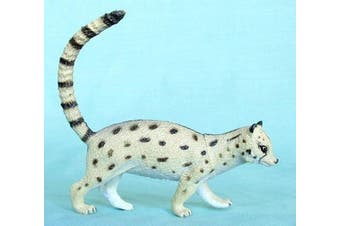 Small-spotted Genet Cat 8.9cm plastic - F327 B110