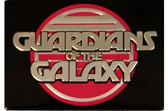 Licences Products Guardians of The Galaxy Movie Retro Metal Magnet Logo, 6.4cm x 8.9cm , Silver