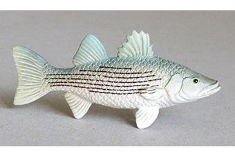 Striped Bass Striper Plastic Fish realistic 7.6cm long - F4347 B89
