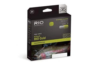 (WF4F) - Rio In Touch Gold Freshwater Trout Series WF Floating Fly Line Moss/Grey/Gold