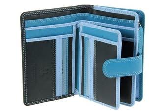 (Blue Multi) - Visconti Multi Colour Soft Genuine Leather Purse / Wallet For Ladies - RB51