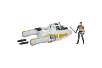 Star Wars - Y-Wing Scout Bomber Vehicle 9.5cm Kanan Jarrus Action Figure