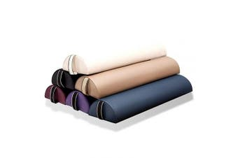 (Small Half-round 612, Black) - Dr.lomilomi Small Half-round Massage Bolster 612 (Small Half-round 612, Black)