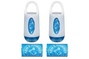 (Pack of 1 (2), Blue) - Munchkin Arm & Hammer Nappy Bag Dispenser and Bags, 2 Count, Blue