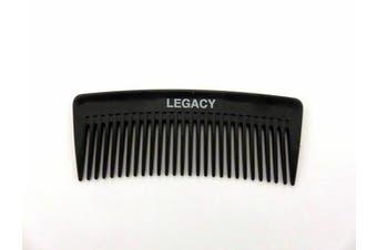 Men's Heavy Duty Premium Beard Plastic Pocket Comb - Black (3)